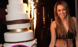 Miley đón sinh nhật kiểu người 'nhớn'