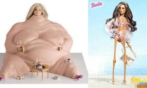 Xuất hiện búp bê Barbie 'thùng phuy' và 'que củi'