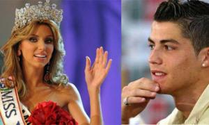 C.Ronaldo 'bắn tin' cho hoa hậu Venezuela