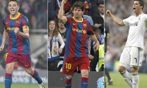 Ronalo một mình đối chọi Messi, Xavi