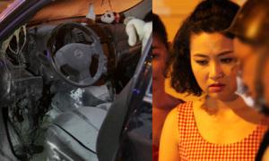 Ôtô của Lê Khánh bốc cháy dữ dội