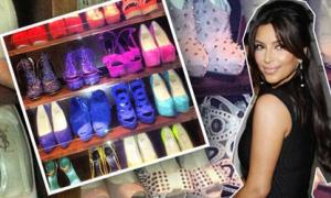 'Chết thèm' với tủ giày hơn 300 đôi của Kim