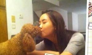 Lee Da Hae hồn nhiên hôn cún