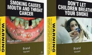 Kinh hoàng vỏ bao thuốc lá cảnh báo người dùng
