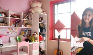 Phòng ngủ cực 'iu' toàn đồ tự thiết kế của Hà Lade