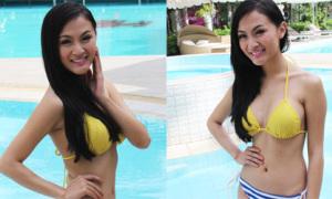 Hot girl diện bikini thả dáng bên hồ bơi