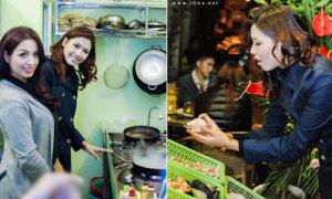 Hoa hậu Nguyễn Thị Loan đi bán ốc