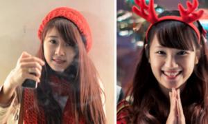 Những teen girl xinh đẹp sáng bừng phố Noel