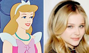 Xì ta ngoại để tóc giống công chúa Disney