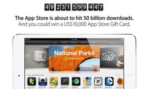 Apple thưởng 10.000 USD cho lượt tải ứng dụng thứ 50 tỷ