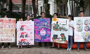 Teen Hà Thành xuống phố 'nói không với còi xe'