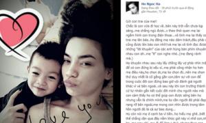 Hà Hồ 'trả đũa dư luận' trên Facebook