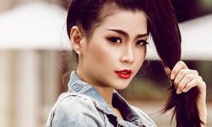 Diễm Trang chất lừ với style cô nàng mạnh mẽ