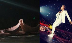 Fan nữ ném áo ngực lên sân khấu của Justin Bieber