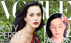 Quá trình tút tát từ mặt mộc sang ảnh bìa long lanh của Katy Perry