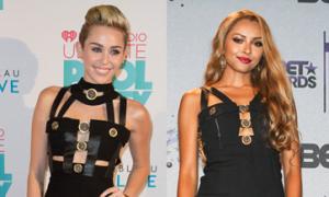 Miley - Kat: Ai cá tính hơn với váy dải băng?