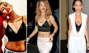 Miley, Rihanna, Nicole cùng 'kết' chiếc bratop da