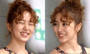 Yoon Eun Hye cười tít mắt với quả đầu 'mì tôm'