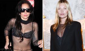 Kate Moss, Lady Gaga đụng đồ lưới khoe thân táo bạo