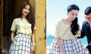 Diễm My diện váy y hệt Phạm Băng Băng