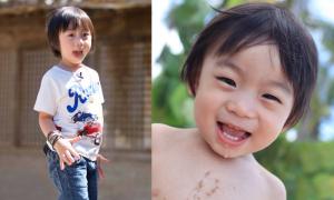Con trai Lâm Chí Dĩnh biểu cảm cực cute