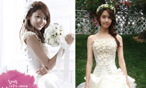 12 khoảnh khắc Soo Young - Yoon Ah cực xinh với váy cưới