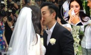 Dương Mịch nghẹn ngào trong đám cưới trắng