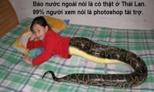 Ảnh xôn xao Facebook 9/1: Bé gái nửa người nửa rắn