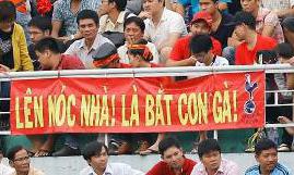 Băng rôn bá đạo cổ vũ U19 Việt Nam gây xôn xao Facebook