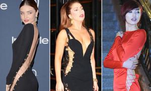 Miranda Kerr theo mốt khoe dọc thân giống Gaga, Hồng Quế
