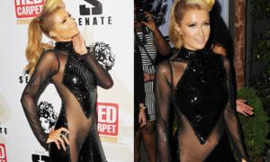 Sao quậy: Paris Hilton diện váy voan cực bạo