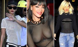 Đồ xuyên thấu khoe thân gây choáng của Rihanna