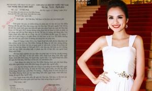 Hoa hậu Diễm Hương chính thức bị cấm diễn