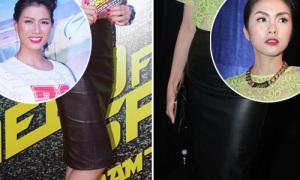 Trang Trần, Hà Tăng mix khác kiểu với váy da