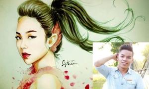 Chàng trai 8x vẽ chân dung gần 100 nghệ sĩ Việt
