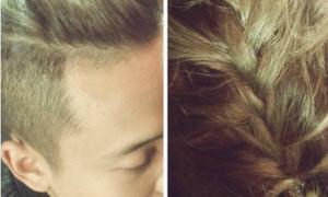 Facebook sao 24/3: Trâm Anh tết tóc cho Justatee