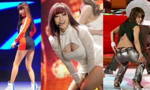 Sao nữ Hàn cạnh tranh bằng đủ kiểu khoe thân