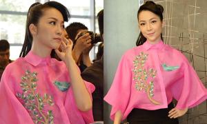 Linh Nga diện áo tay xòe lạ mắt