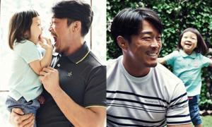 Sao Hàn 22/4: Bé Choo Sarang cười tít mắt bên bố