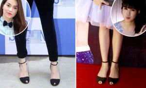 Bà xã Lý Hải đụng kiểu giày hot với Hồ Ngọc Hà