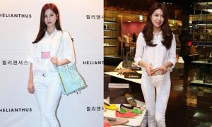 Seo Hyun, Soo Young đọ dáng với cây trắng thanh lịch