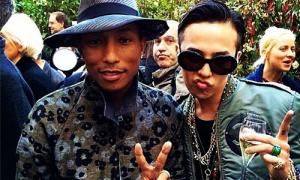 Sao Hàn 28/5: G-Dragon khoe ảnh cùng thần tượng Pharrell Williams