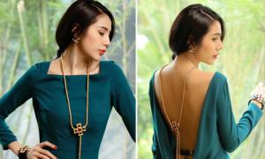 Loạt váy gây tròn mắt khi xoay lưng của sao Việt