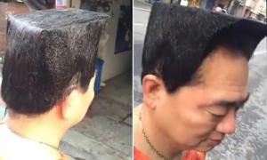 Người đàn ông mong tán đổ các cô gái bằng mái tóc siêu 'độc'