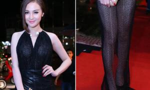 Hot or not: Váy ren xuyên thấu toàn thân của Kelly Nguyễn