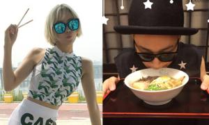 Sao Hàn 16/7: Hyo Min cầm đũa tạo dáng, Jun Ho hít hà tô mỳ