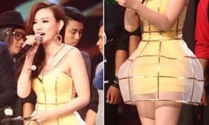 Hot or not: Thu Thủy độn hông với váy 'phồng tướng'