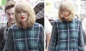Hot or not: Taylor Swift diện sơ mi váy lùng bùng như con trai
