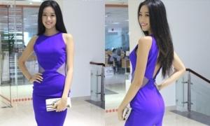 Nữ sinh 1m78 diện váy bó sát thi nhan sắc