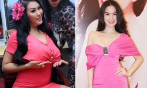 Phi Thanh Vân lép vế khi đụng váy Ngọc Trinh